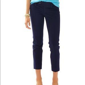 Lily Pulitzer Blue Capris Dress Pants size 2